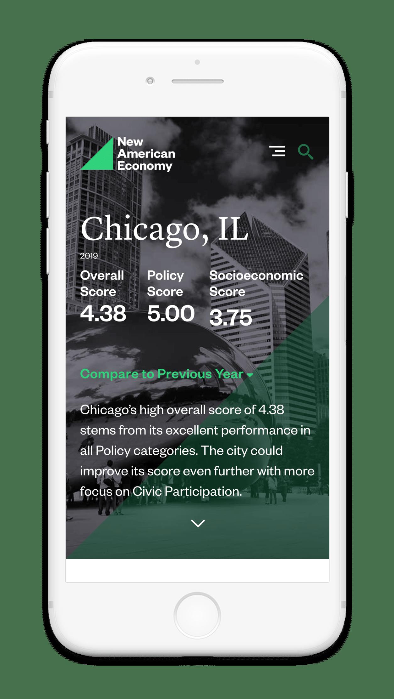 New American Economy City Index Mobile App