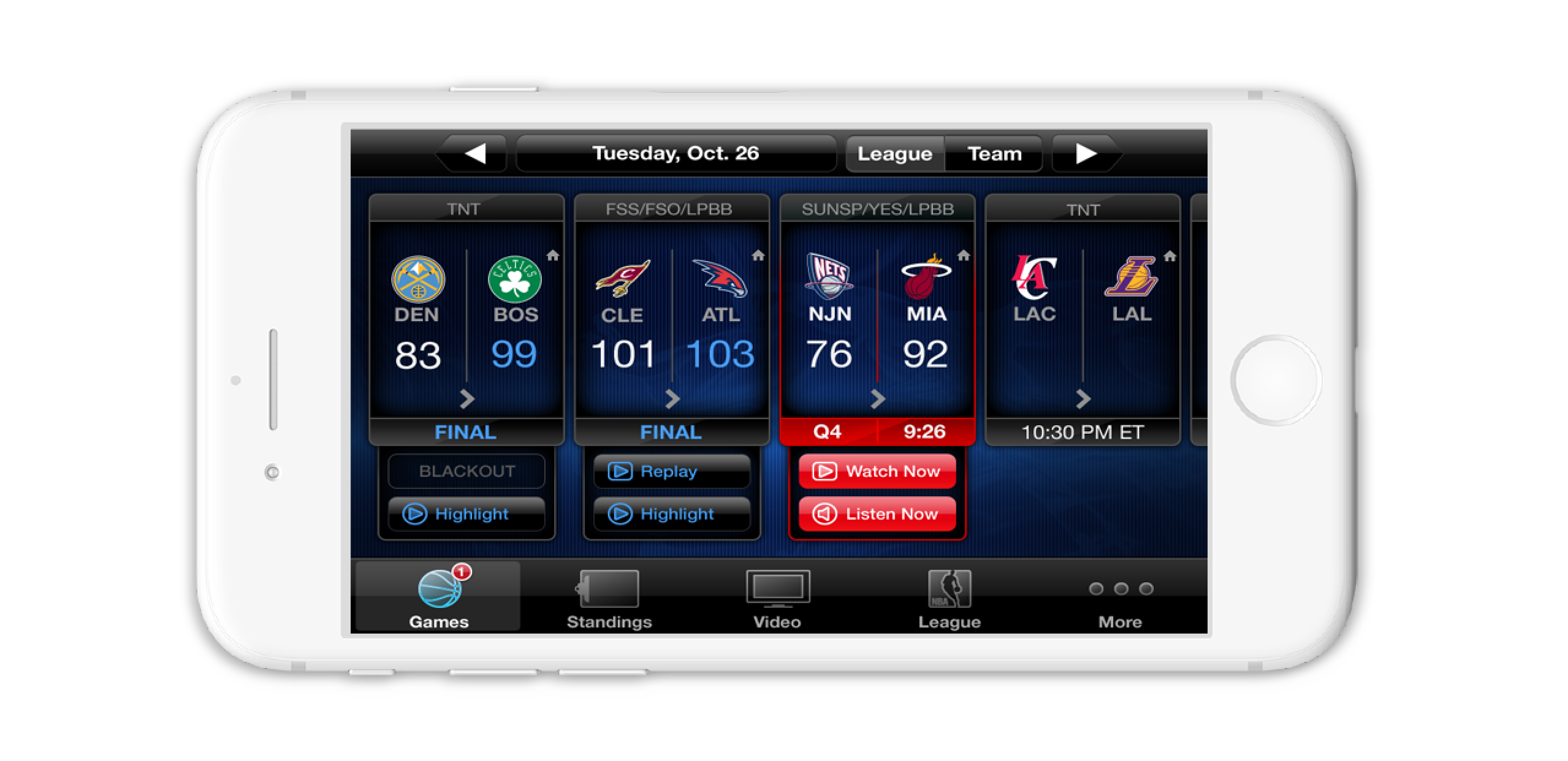NBA League Pass iOS App